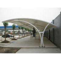 生产销售PVDF大型室外自行车棚雨棚 钢结构汽车雨棚