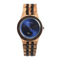 贝威尔品牌新款时尚不锈钢男智能手表木质表带外贸热销时尚木表厂家一件代发