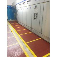 定做 5mm厚红色画印绝缘橡胶板价格 石家庄金淼电力生产