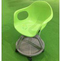 时尚会议椅带轮移动培训椅子塑料休闲椅接待会椅子会议记录椅