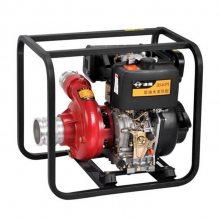 手电一体4寸抽水泵 柴油机4寸高压消防泵