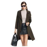高端品牌女士纯羊毛双面尼大衣风衣