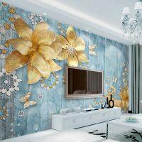 佳舍美居客厅电视机背景墙壁纸影视墙无缝布纸现代装饰3d立体壁画北欧风情