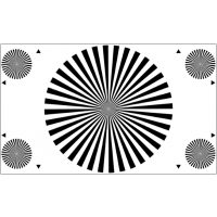 3nh镜头后焦测试图卡YE0220(36扇区) 调焦标定板chart