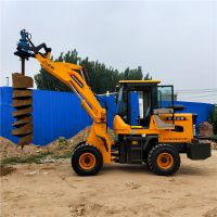 光伏打桩机 电力挖坑机 装载机改装挖坑机 洪鑫直销