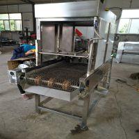 耐高温网带猪脚燎毛机 猪爪子液化气去毛设备 康汇机械厂家
