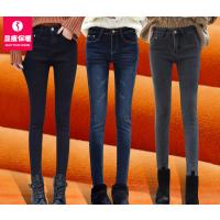 2018新款裤子加绒加厚紧身牛仔裤女加棉长裤高腰冬季小脚女裤保暖批发