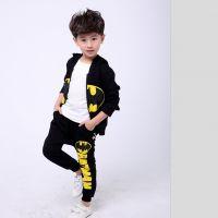 2017春秋童装蝙蝠侠儿童套装蜘蛛侠超人卡通衣服童套厂家一件代发
