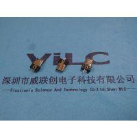 MICRO 5P 夹板(0.8-1.0-1.1-1.2)USB公头 带卡刺,弹片 磷铜镀镍外壳