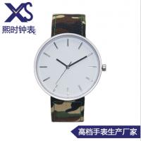 欧美风简约男士手表 大表盘简单休闲手表 深度防水手表配真皮带
