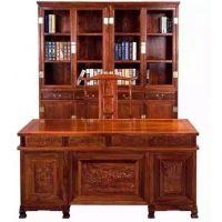 名琢刺猬紫檀1.8米 2米 2.2米办公台办公桌批发价格