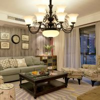 美式吊灯 餐吊灯 复古客厅简约灯饰 创意铁艺别墅酒店灯具