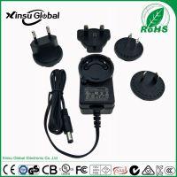 12V1A可转换插脚电源 xinsuglobal 德国GS认证 12V1A可转换头电源适配器