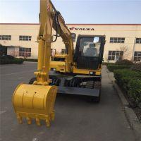 山东省厂家生产基地挖掘机济宁金林机械870轮式挖掘机