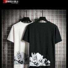 广州男士T恤批发厂家韩版时尚纯棉男士短袖批发夏季男女装批发