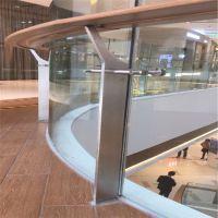耀恒 弧型玻璃楼梯扶手护栏旋转玻璃栏杆办公楼公寓大厅别墅不锈钢栏杆定制