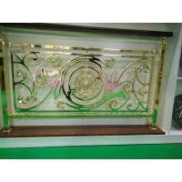 厂家供应铝镁合金旋转式镀金楼梯护栏 别墅铜艺楼梯 铜板雕刻图案