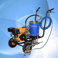 成建冷喷式划线机 小型道路划线机 常温车库汽油划线车富兴