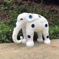 户外大型仿真玻璃钢大象造型雕塑玻璃纤维吉祥动物酒店美陈摆件雕塑厂家直销
