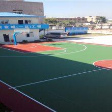 厂家直接篮球场工程 羽毛球场施工