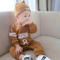 一件代发童装春秋婴儿服装春秋季宝宝长袖哈衣新生儿衣服针织爬服
