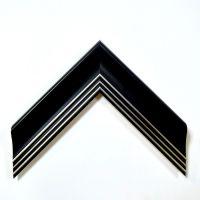 华仑观色出口定做新款5公分高档简约黑带银发泡画框线条