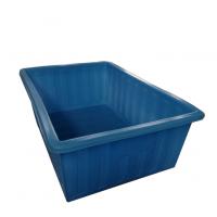 【华社】滚塑一次成型食品级PE聚乙烯方盆长方形白色塑料方箱方盒带轮子