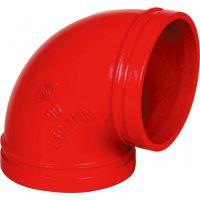 批发沟槽管件 消防球墨铸铁管件 DN114弯头现货批发中