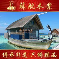 苏航木船供应大型欧式房船/住宿船/水上宾馆加工定制