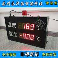 苏州永升源厂家直销湿度自动采集显示 LED显示屏 工业锅炉数据监测 管理电子看板
