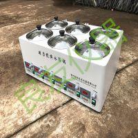 供应金坛姚记棋牌正版 SHJ-6D磁力搅拌水浴锅 水浴磁力搅拌器 调速多孔恒温搅拌器
