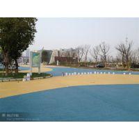 山西彩色地坪混泥土透水压模材料工程 海绵城市改造