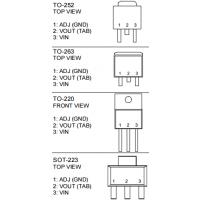 AIC1117A低压差三端稳压器1A输出电流SOT223-3/TO252