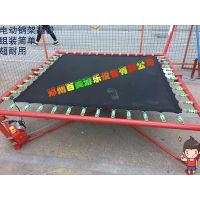 河北沧州儿童飞天蹦极床,电动钢架蹦极自动升降更简便
