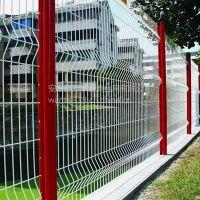 花园折弯护栏网 桃型柱防护栏 三角折弯护栏生产