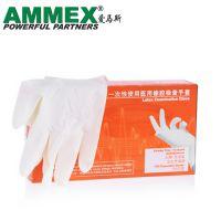 AMMEX爱马斯TLFCMDI一次性医用橡胶手套 无粉掌麻耐用型