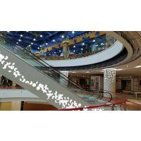鹰潭市商场扶手电梯棱形雕刻透光铝单板工程案例