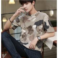 便宜夏季新款男士短袖t恤半袖男装韩版潮流简约纯棉打底衫修身体恤男跑量T恤