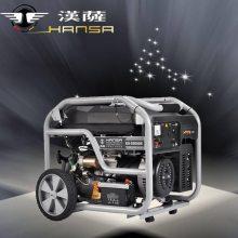 带轮子的5kw发电机 小型静音5千瓦汽油发电机