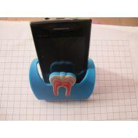 牙齿图案手机座,动物系列手机支架,pvc印刷手机座