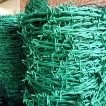 PVC包塑刺绳 刺铁线围网 养殖圈地网