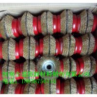 普通碗型鋼絲輪100/125型 外徑100mm 碗型通用型 打磨除鏽 山東地區