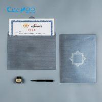 布谷鸟订做奖状聘书外壳封皮创意A4纸结业荣誉证书套装文件资料袋收纳袋