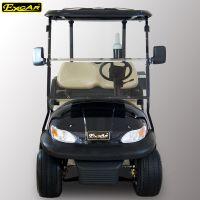 卓越新款2座黑色電動高爾夫球車球包車四輪電動觀光車定制款