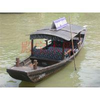 殿宝木船上海观光船婚礼船捕鱼船摄影装饰船5米小木船价格