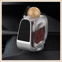 蜗牛香水香薰 手机支架车载车用上除异味香水座 车内饰品摆件用品 私膜专利