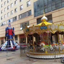 兒童游樂場室內電動旋轉木馬 廣場大型戶外超豪華轉馬游樂