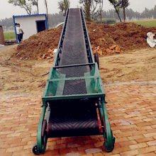 兴运800宽圆管主架输送机 100KG尿素水泥袋子用装车输送机