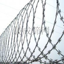 围墙围山刀片刺线刺绳 镀锌刀片刺丝加高 江门不锈钢带刺铁丝网