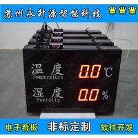 苏州永升源厂家直销湿度自动采集显示 4-20mA温湿度显示屏RS485通讯监测屏0-10V信号